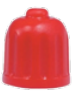 valve cap, red, repaired for tyres