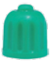 valve cap, green,  for tyres filled  with nitrogen