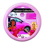 STEERING WHEEL COVER PINK WITH DIAMONDS 37-39cm