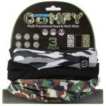 puff neck- and headband Weatherproof Camo packing 3 pc.