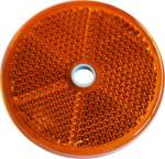dob-33 reflector yellow round 60mm bolt hole