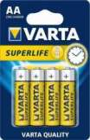 VARTA battery SUPERLIFE AA R6P BLISTER 4pc