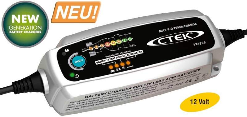 battery charger ctek mxs 5 0 test and charge. Black Bedroom Furniture Sets. Home Design Ideas