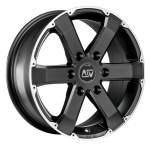 Valuvelg MSW 46 matt black, 17x7.5 6x139.7 ET20