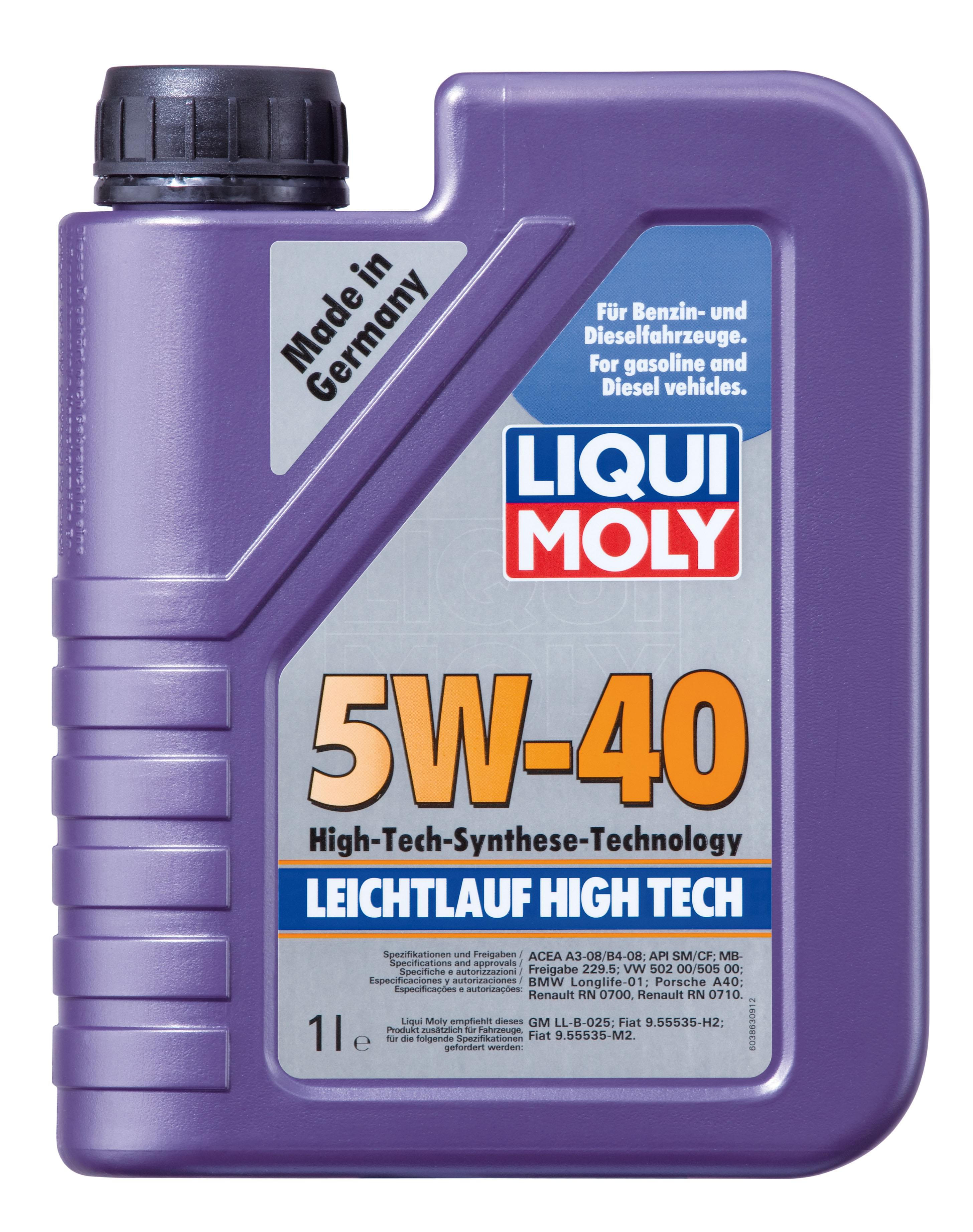 fully synthetic engine oil leichtlauf high tech 5w 40. Black Bedroom Furniture Sets. Home Design Ideas